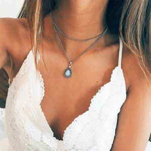 Layered Moonstone Necklace